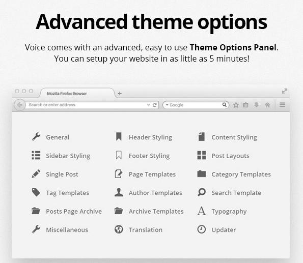 wordpress voice teması ayarları